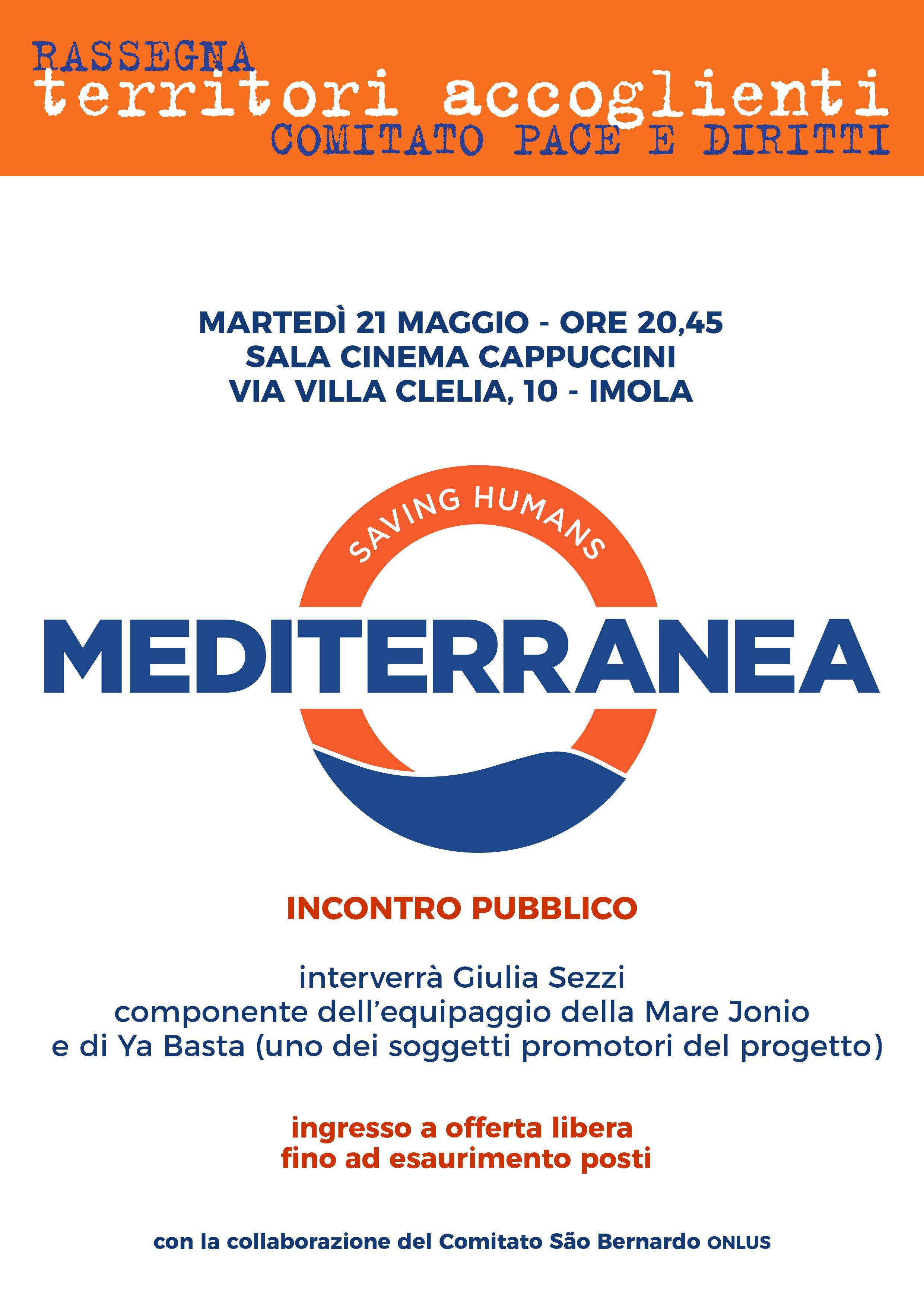 21 Maggio: incontro con Mediterranea Saving Humans