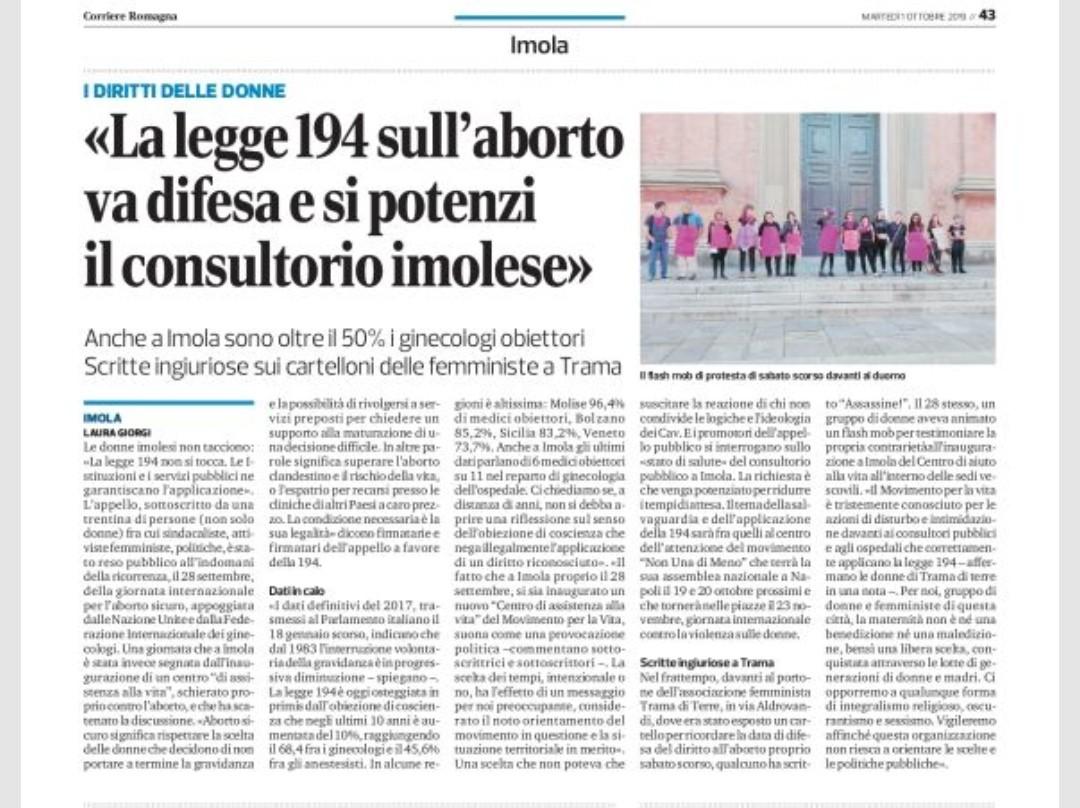La legge 194 sull'aborto va difesa e si potenzi il consultorio imolese