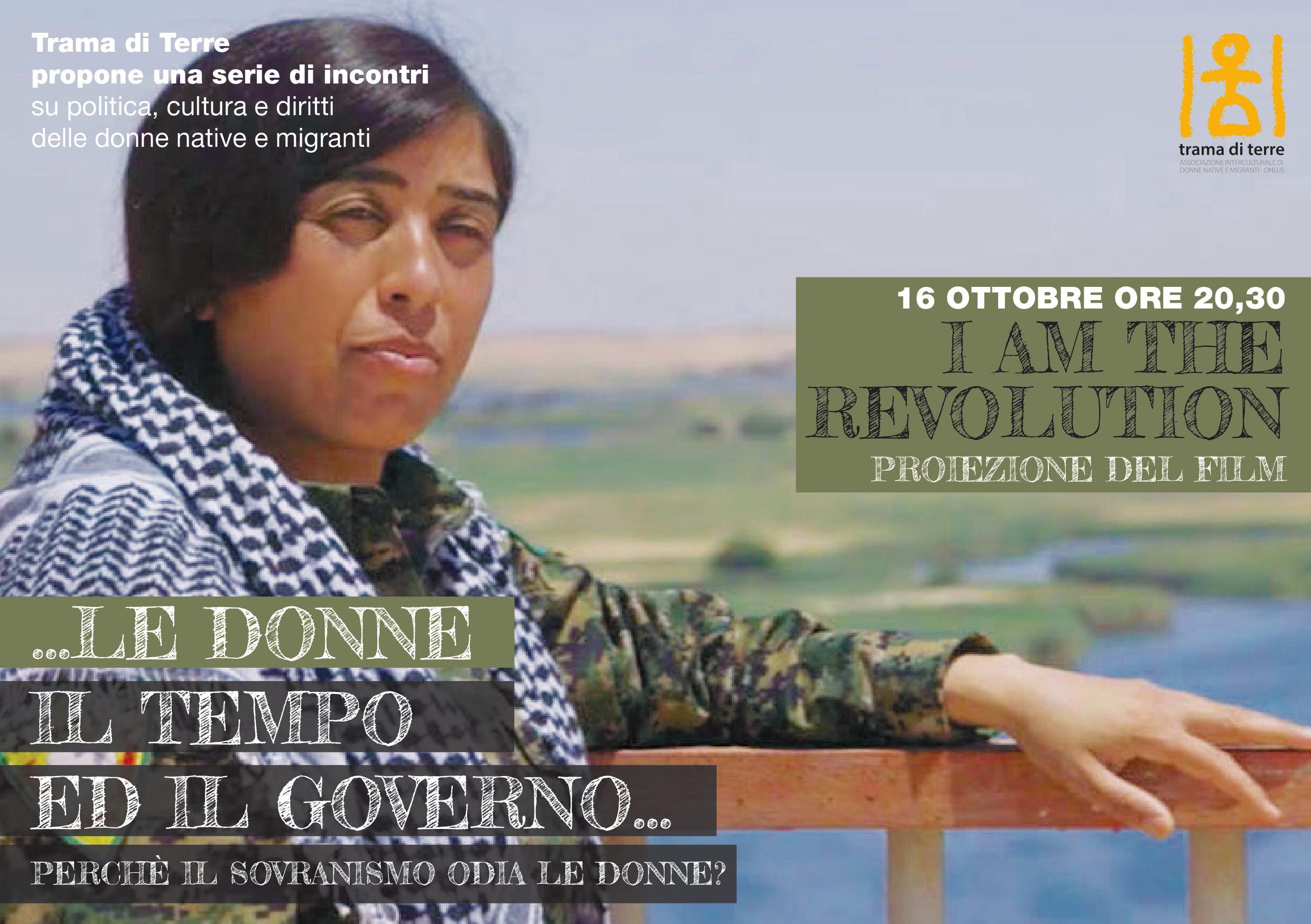 "Mercoledì 16 Ottobre: proiezione di ""I am the revolution"""