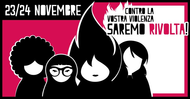 Sabato 23 Novembre: TUTTE A ROMA! Pullman da Imola per la manifestazione contro la violenza maschile sulle donne